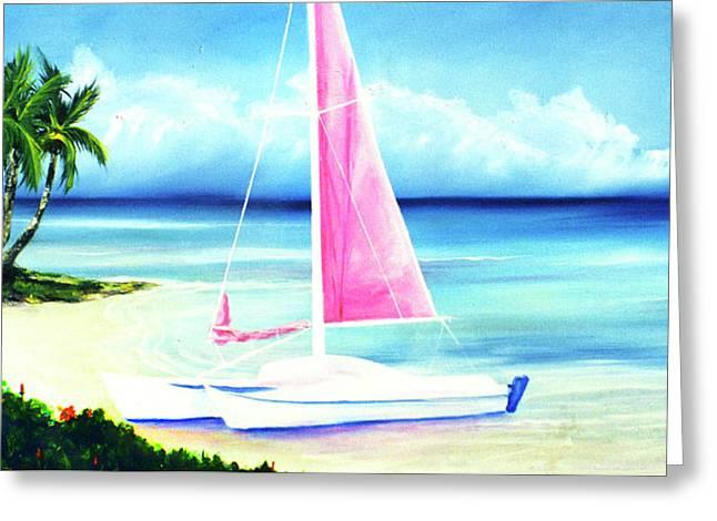 Waimanalo Beach #187 Greeting Card by Donald k Hall
