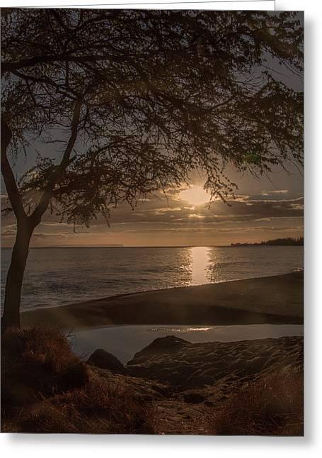 Waimea Bay Sunset 4 Greeting Card