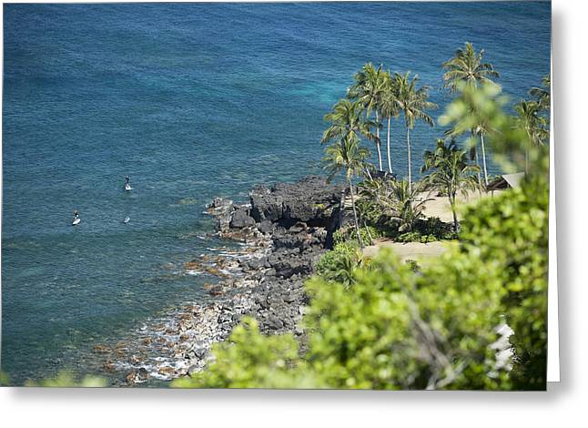 Waimea Bay Sup Greeting Card by Peter French