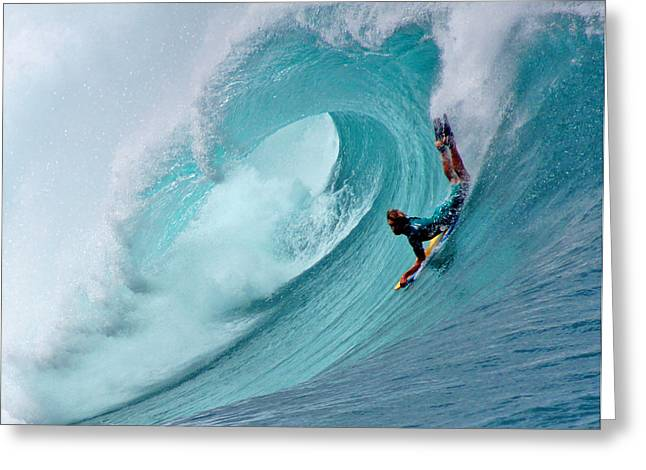 North Shore Greeting Cards - Waimea Bodyboarder Greeting Card by Kevin Smith