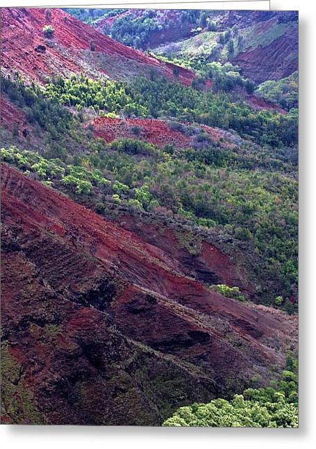 Greeting Card featuring the photograph Waimea Canyon II by Kenneth Campbell