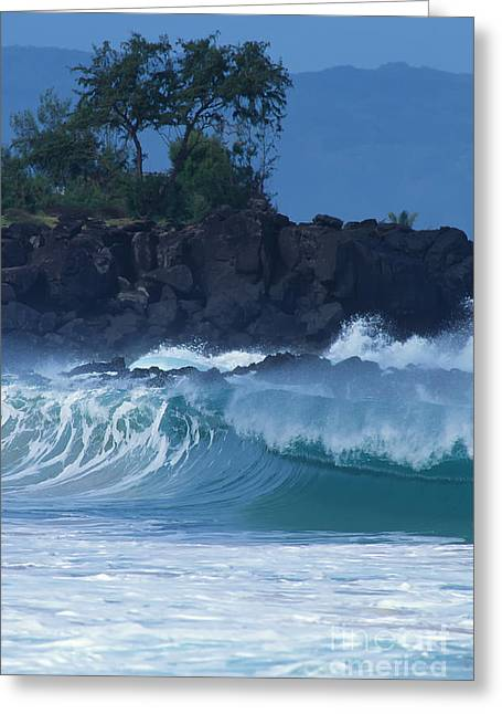 Greeting Card featuring the photograph Waimea Shorebreak by Stan and Anne Foster