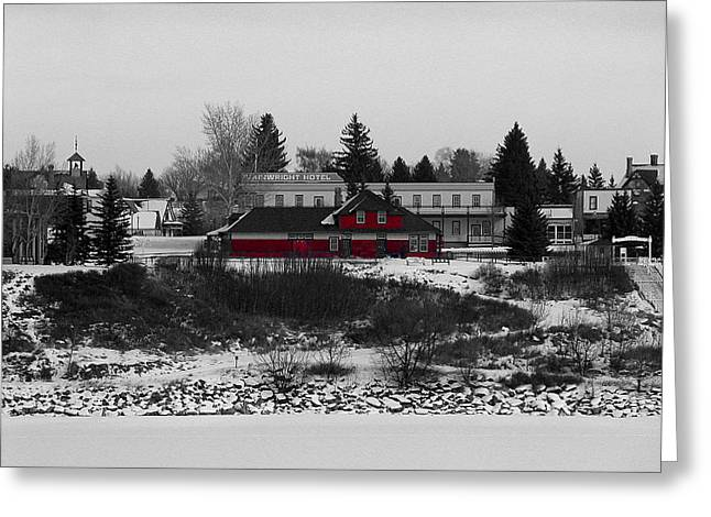 Heritage Park Greeting Card by Stuart Turnbull
