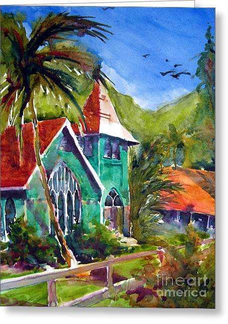 Waioli Church Greeting Card by Jerri Grindle