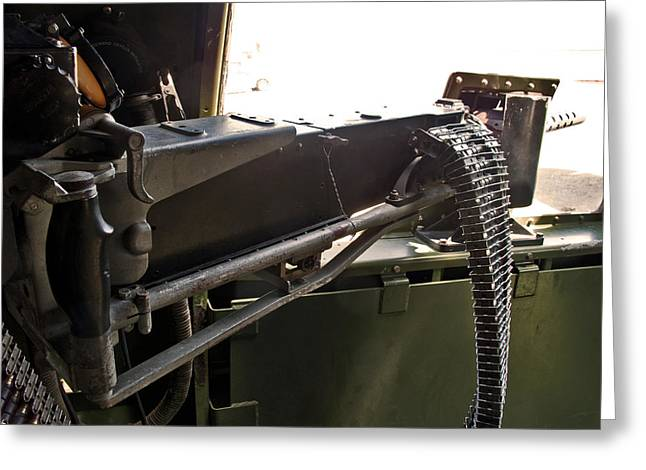 Larry Darnell Greeting Cards - Waist 50 Cal Machine Gun Greeting Card by Larry Darnell