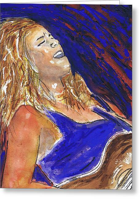 Waited For June A Portrait Of Megan Burtt Greeting Card by Charles Snyder