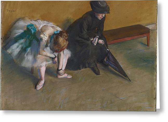 Waiting About 1882 Greeting Card by Edgar Degas