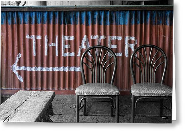 Corrugated Metal Theater Sign Greeting Card