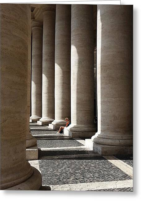 Waiting At St Peter's Greeting Card