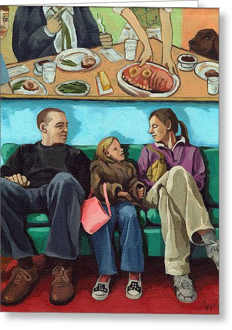 Waiting At The Diner Greeting Card by Linda Apple