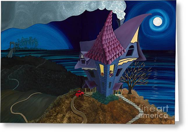 Greeting Card featuring the painting Waiting by Denise M Cassano