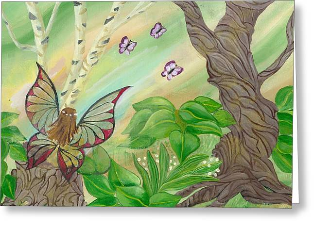 Waiting Fairy Greeting Card by Gail Peltomaa