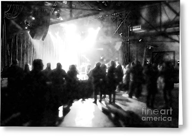 Greeting Card featuring the photograph Waiting For A Show by Utopia Concepts