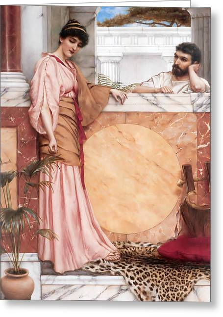 Waiting For An Answer Greeting Card by John William Godward