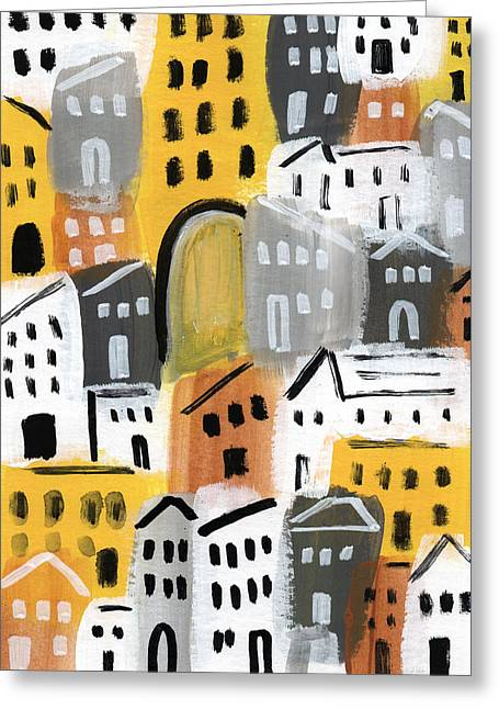 Waiting For Autumn- Expressionist Art Greeting Card