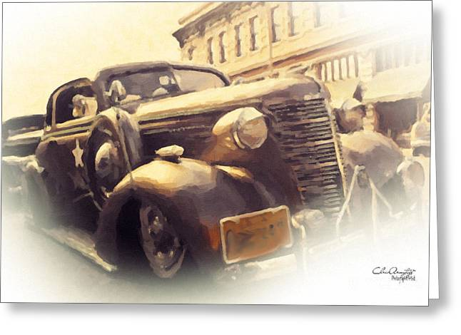 Greeting Card featuring the painting Waiting For Bonnie And Clyde by Chris Armytage