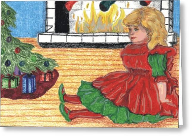 Waiting For Christmas Greeting Card by Jennifer Skalecke