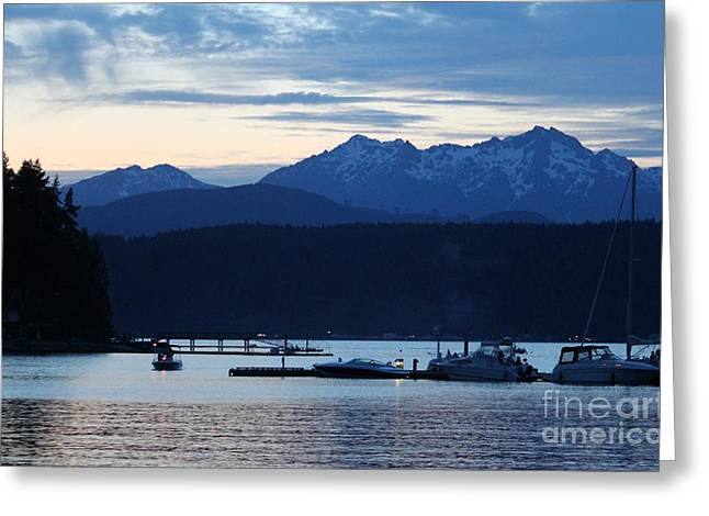 Waiting For Fireworks At Alderbrook Greeting Card by Terri Thompson