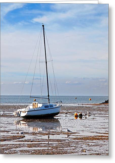 Waiting For High Tide Greeting Card by Gill Billington