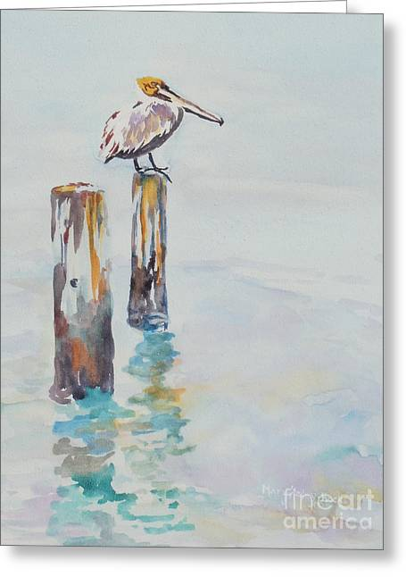 Greeting Card featuring the painting Waiting For Lunch by Mary Haley-Rocks