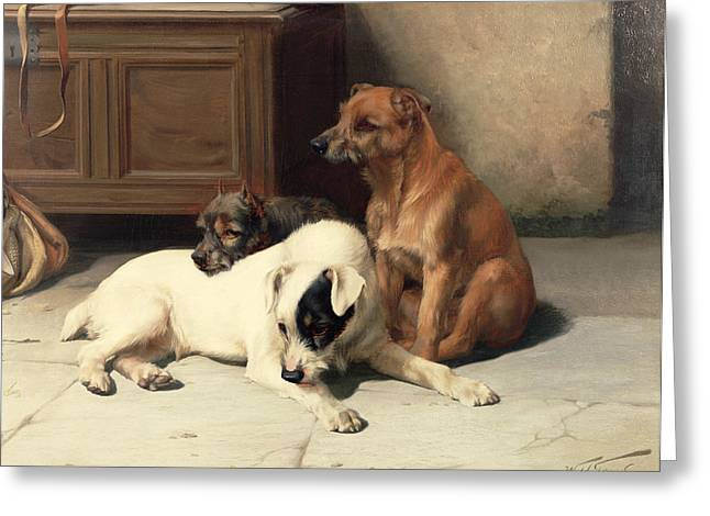 Waiting For Master Greeting Card by William Henry Hamilton Trood