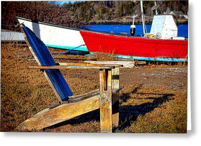 Waiting For Spring In Maine Greeting Card by Olivier Le Queinec