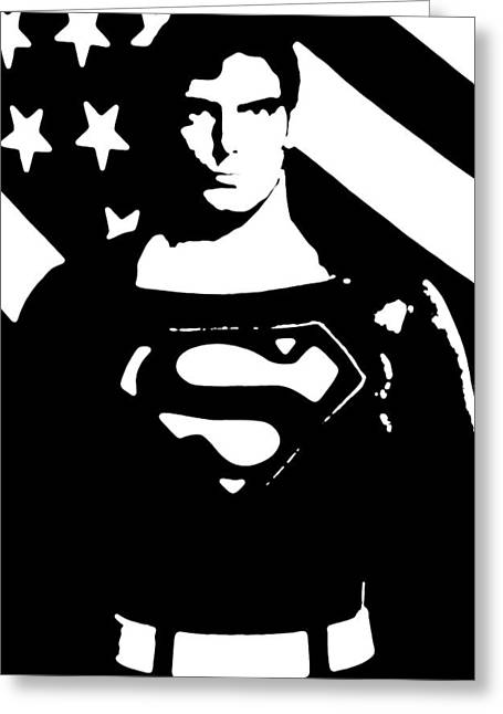 Greeting Card featuring the digital art Waiting For Superman by Saad Hasnain