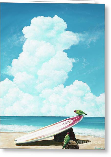 Waiting For Surf Greeting Card