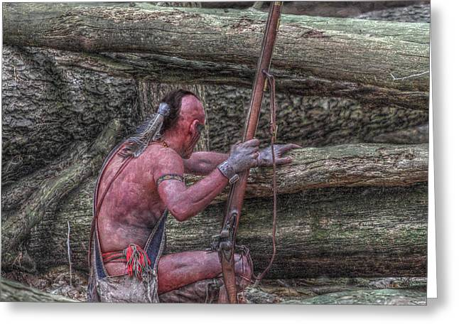 Muzzleloader Greeting Cards - Waiting for the Enemy Greeting Card by Randy Steele