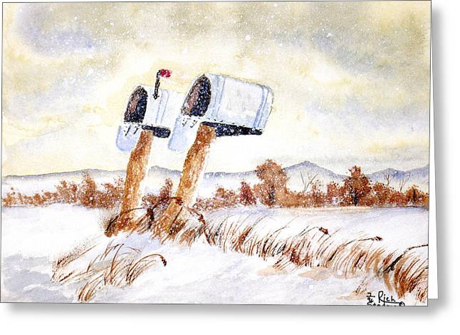 Waiting For The Mail Greeting Card by Rich Stedman