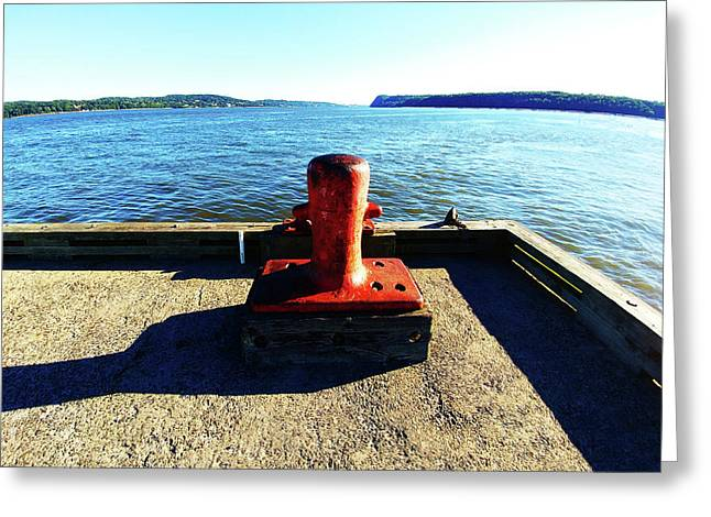 Waiting For The Ship To Come In. Greeting Card
