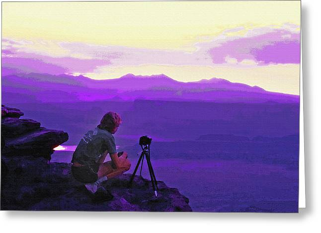 Waiting For The Sunrise - Dead Horse Point Utah Greeting Card by Steve Ohlsen