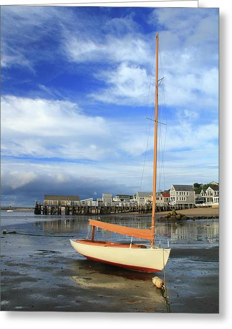Waiting For The Tide Greeting Card by Roupen  Baker