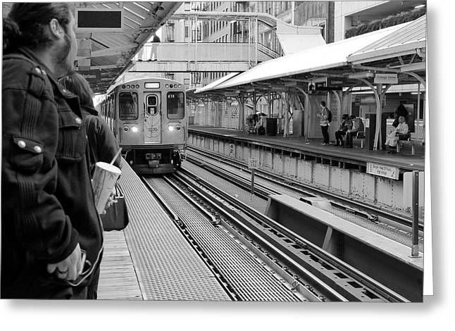 Waiting For The Train 3 Greeting Card