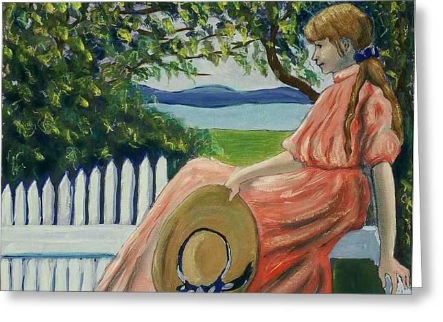 Waiting Greeting Card by Helen O Hara