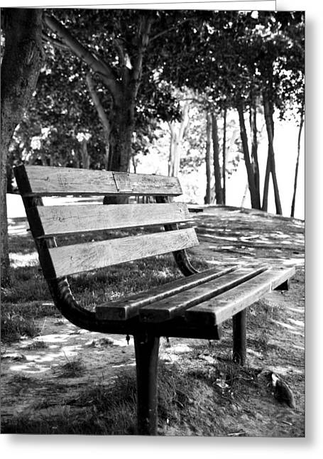 Waiting In Bw Greeting Card by Edward Myers