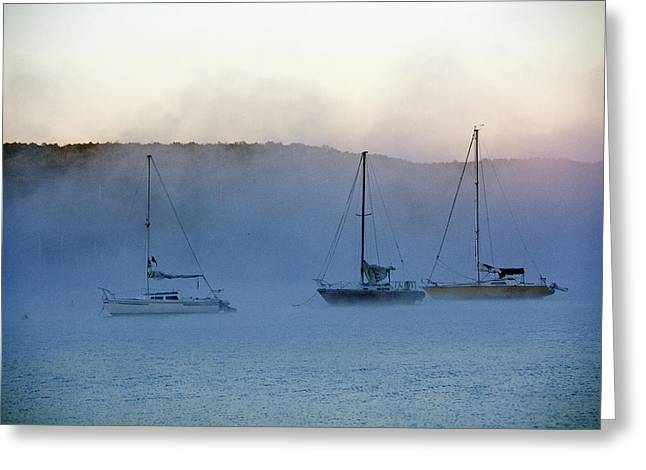 Waiting In The Fog Greeting Card