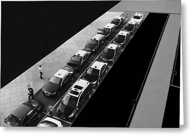 Waiting Lines Greeting Card by Paulo Abrantes