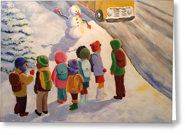Waiting Greeting Card by Marilyn Jacobson