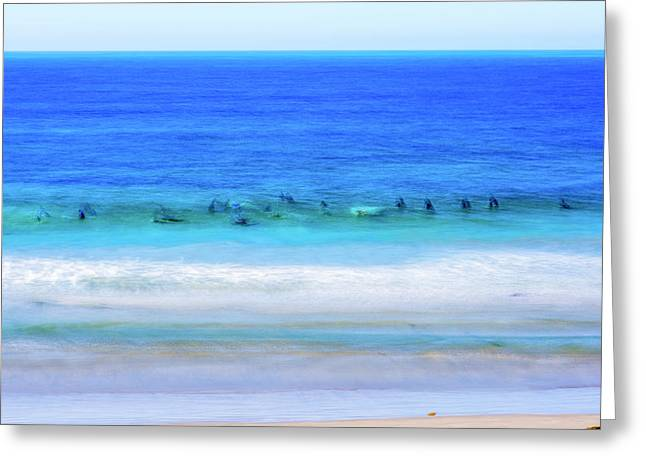 Waiting On A Wave Greeting Card by Joseph S Giacalone