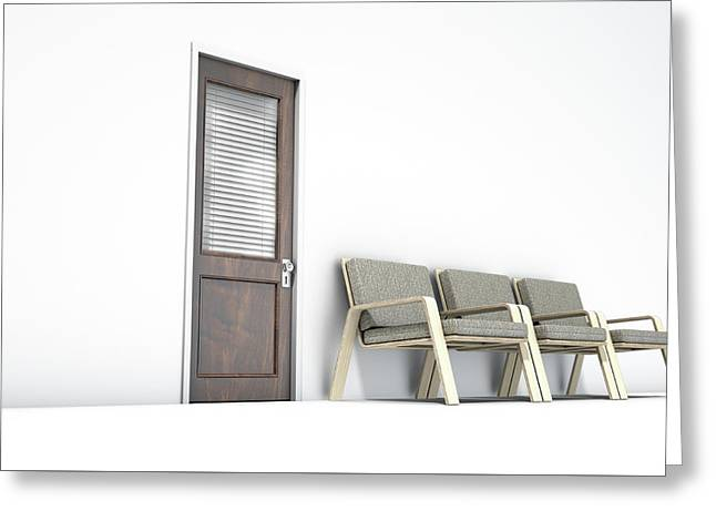 Waiting Room With Chairs Greeting Card