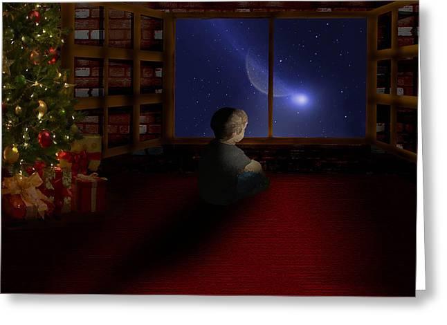 Waiting Santa Greeting Card