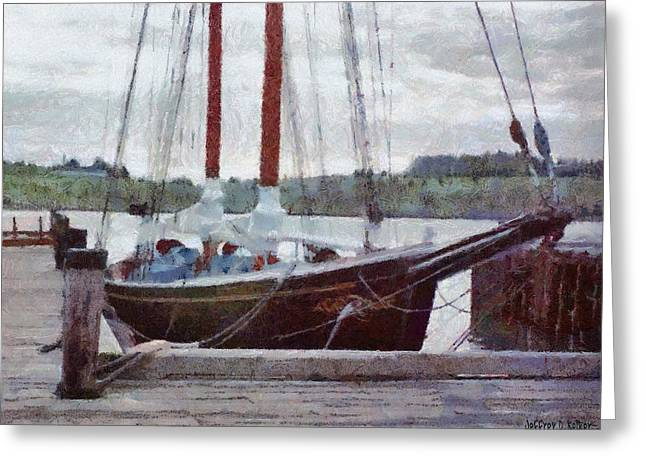 Waiting To Sail Greeting Card by Jeff Kolker