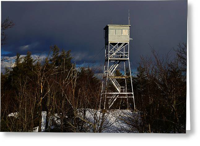 Waiting Tower Greeting Card