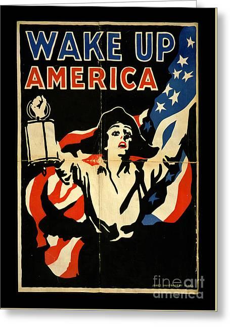 Wake Up America Greeting Card by John Stephens