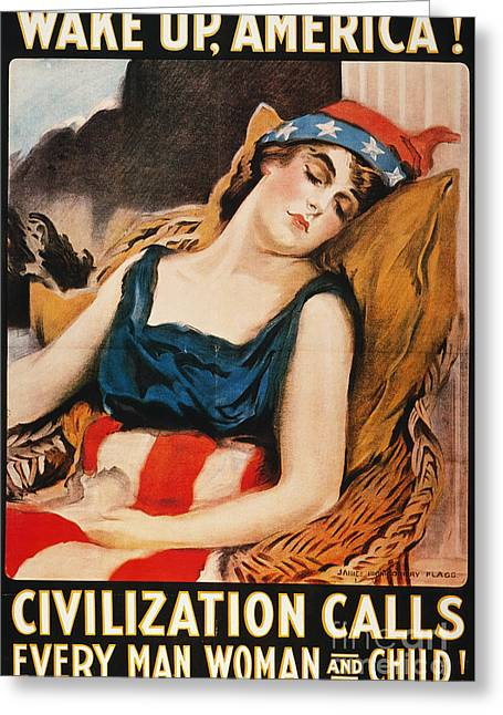 Wake Up America Poster Greeting Card by Granger