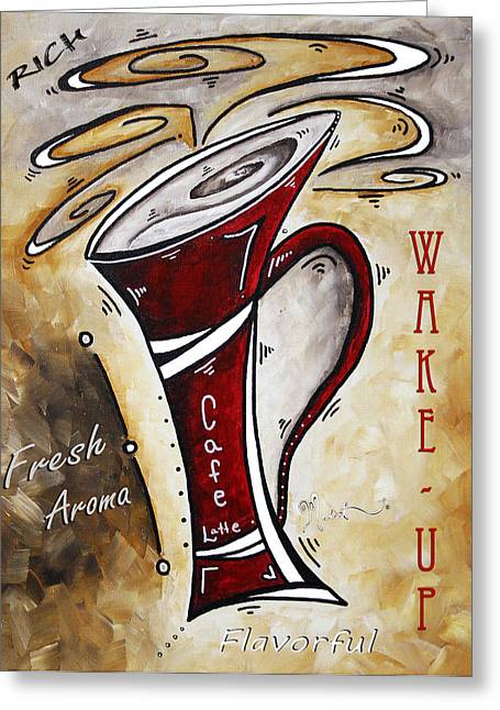 Wake Up Call By Madart Greeting Card by Megan Duncanson