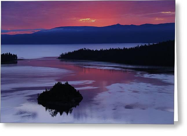 Wake Up In Lake Tahoe  Greeting Card