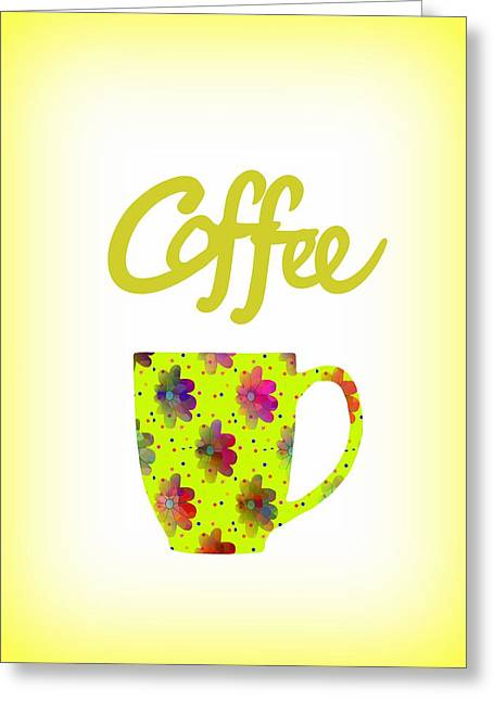 Wake Up To Coffee Greeting Card