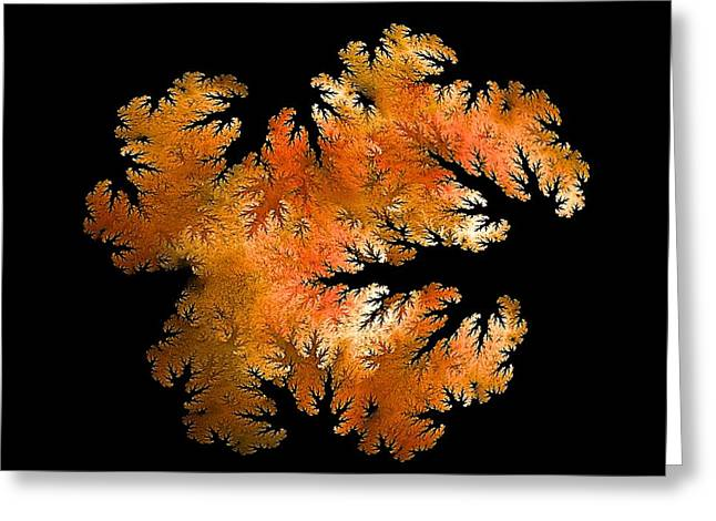 Waking In Mandelbrot Forest-2 Greeting Card